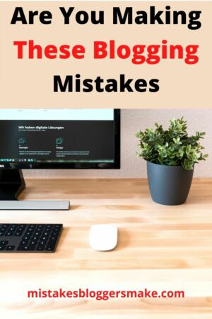 Are-You-Making-These-Blogging-Mistakes-Desktop-Computer-Mouse-and-A-Plant-On-A-Table