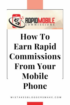 Earn Rapid Commissions From Your Mobile