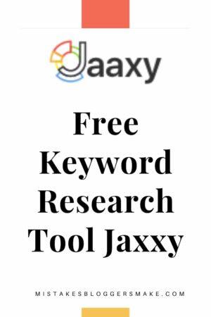 Free Keyword Research Tool Jaxxy