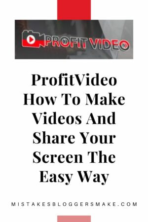 ProfitVideo How To Make Videos And Share Your Screen The Easy Way