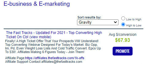 Simple ways to promote clickbank Gravity