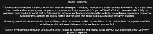 Commission loophole income disclaimer